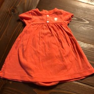 CARTERS 6 mth Orange flutter sleeve infant dress